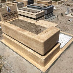 Ankara Blok Kalın Mezar Lale Granit