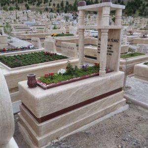 özel Tasarlanmış Mezar Baş Taşı