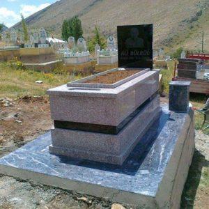 Gri Renk Granit Mezar
