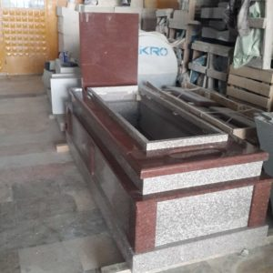 Kırmızı Gri Granit Mezar